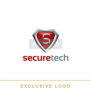Secure Shield Logo 3D-EX-834 - pixellogo