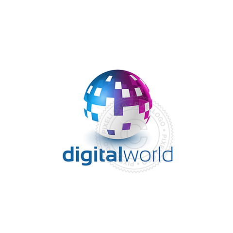 Digital Ball Pixel - Pixellogo