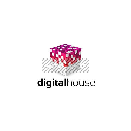 Digital House logo 3D-880 - Pixellogo