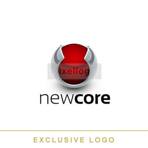 Red Core protection logo 3D-EX-949 - pixellogo
