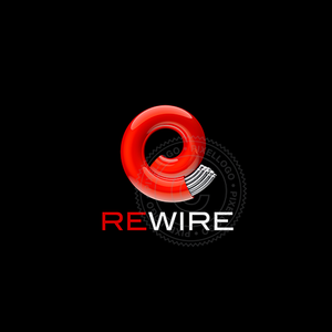 Fiber Optics cable logo - Red cable | Pixellogo