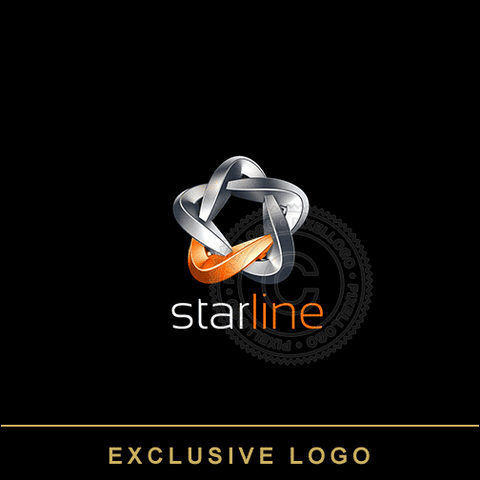 Star Line 3D Metal logo