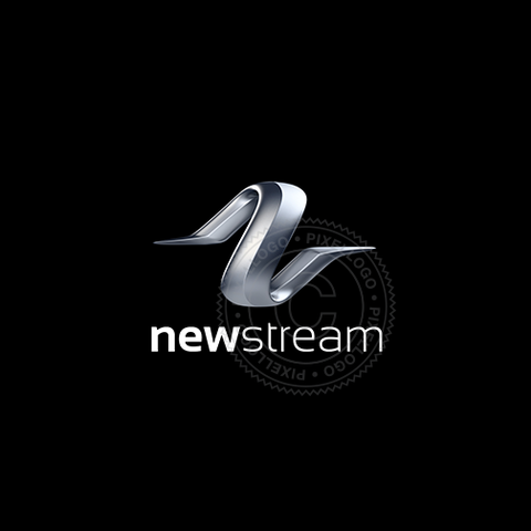Digital Stream 3D logo - Pixellogo