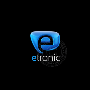 3D E Software Logo - Blue Form with E | Pixellogo