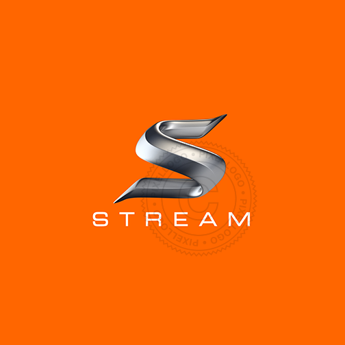 Speed Stream 3D S logo - Metal S 3D logistics logo | Pixellogo