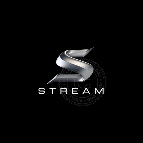 Speed Stream 3D S logo - Steel S 3D logistics logo | Pixellogo