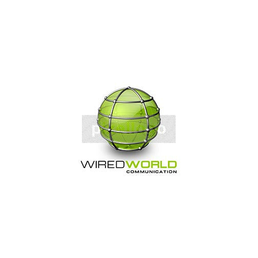Wired Green Globe 3D