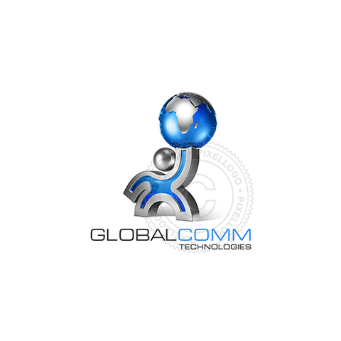 Global Atlas Man 3D - Pixellogo