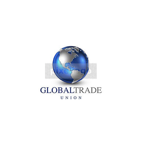 Blue Globe World Atlas 3D Logo 3D-22 - Pixellogo