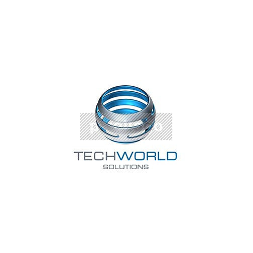 Techworld Solutions 3D Logo 3D-350 - pixellogo