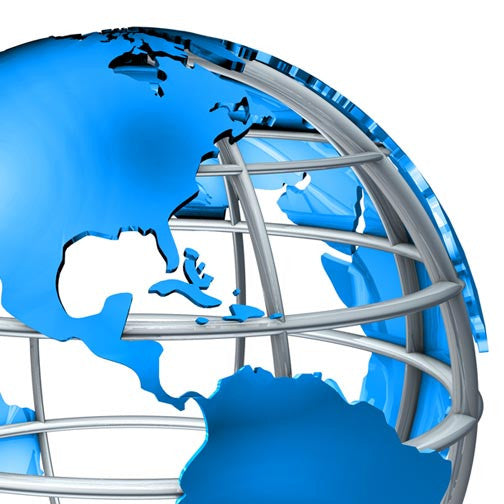 International Trading 3D Globe-3D Non Exclusive-Pixellogo