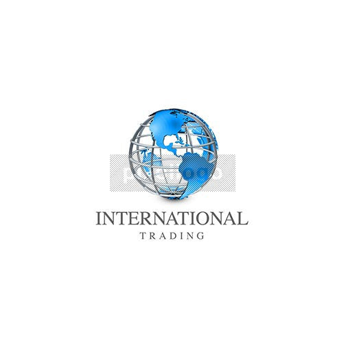 International Trading 3D Globe - Pixellogo