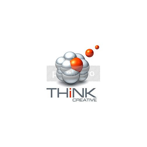 Think Creative 3D - Pixellogo