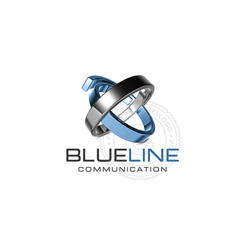 Blue Line Communication 3D - Pixellogo