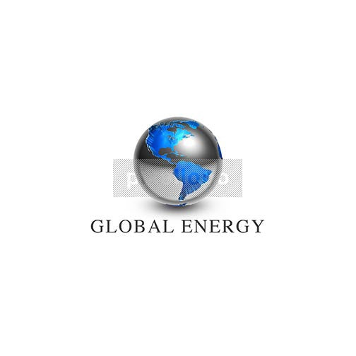 Global Energy 3D World Map - Pixellogo