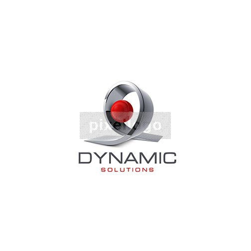 Dynamic Solutions 3D Ribbon - Pixellogo