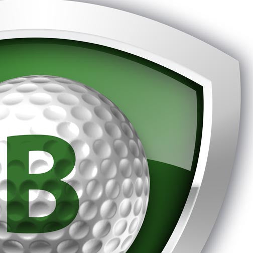 Golf Ball 3D Shield - Pixellogo