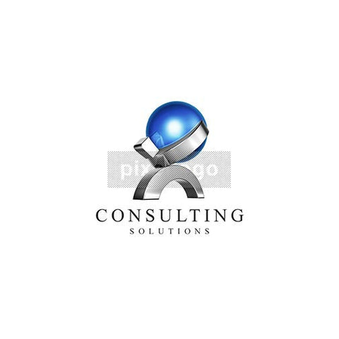 Consulting Solutions 3D Atlas Man - Pixellogo