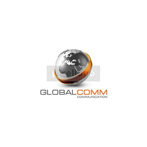 World Map 3D Communications Logo 3D-479 - pixellogo