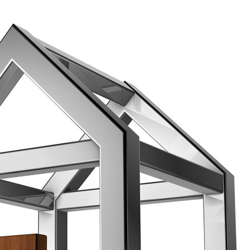 Steel Construction 3D House-3D Non Exclusive-Pixellogo