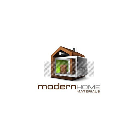 Modern Home 3D Real Estate Logo 3D-512 - pixellogo