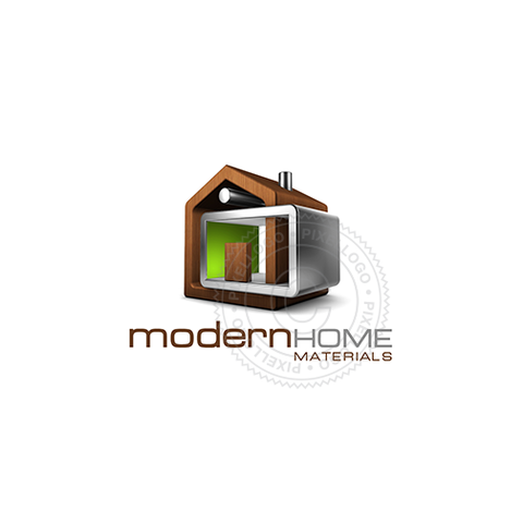 Modern Modular Home Logo - wood and steel construction