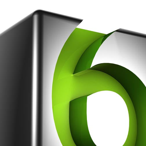 Number Six 3D - Pixellogo