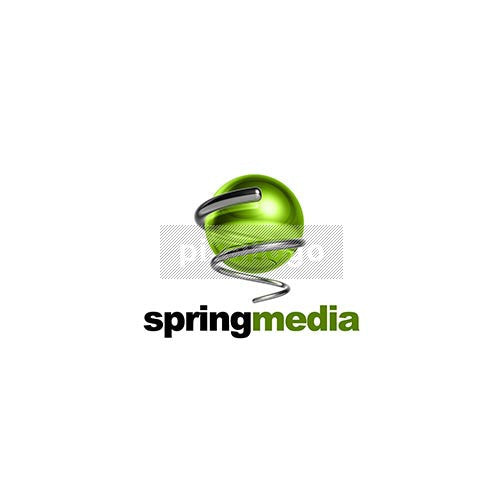 Spring 3D Green Globe And Spring - Pixellogo