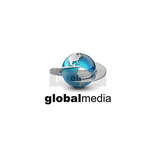 Global Media 3D Communications - Pixellogo