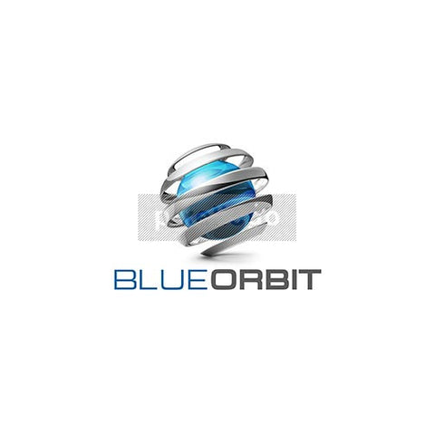 Blue Globe and Spiral Orbit 3D Logo 3D-596 - Pixellogo