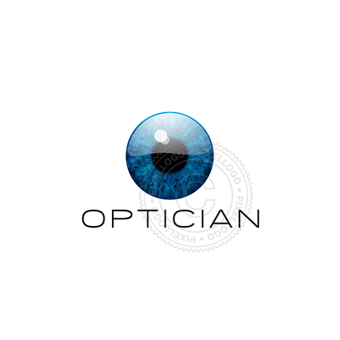 Optician Logo - realistic eye logo | Pixellogo