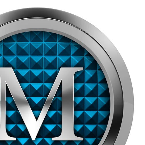 "Luxury Metal ""M"" - Pixellogo"
