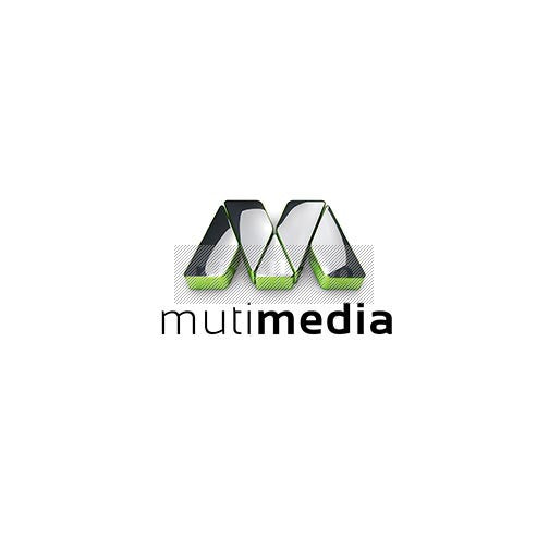 3D M Logo in Chrome - Pixellogo