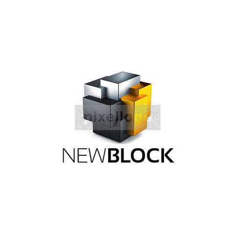 3D Virtual reality Construction Logo - 3d cube | Pixellogo