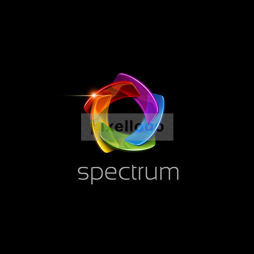 Color Spectrum Logo For Printing And Color Labs Shutter Pixellogo