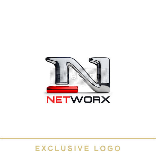 Chrome Metal N Network Logo 3D-EX-993 - Pixellogo