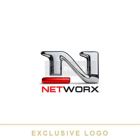 Chrome Metal N Network - Pixellogo