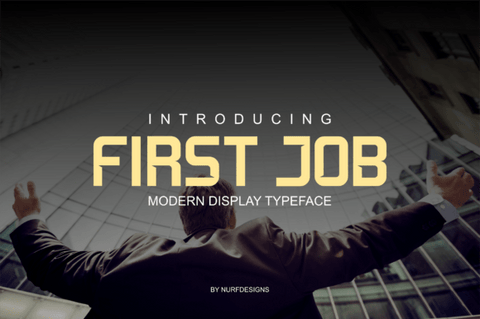 First Job Display Free Font