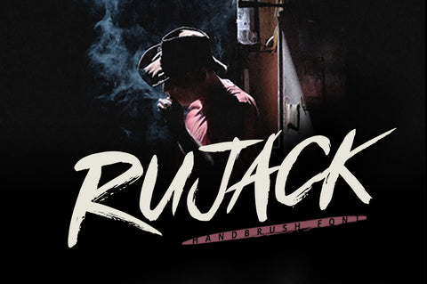 Rujack Handbrush Display Font - Pixellogo