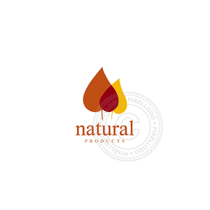 Dry Leaves Organic Food-Logo Template-Pixellogo