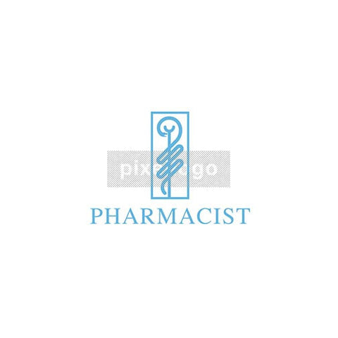 Pharmacist Caduceus - Pixellogo