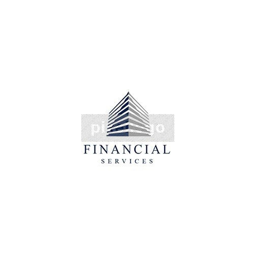 Financial Building - Pixellogo