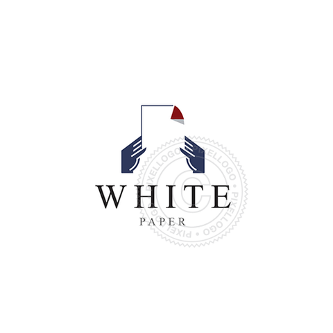 White Paper Free logo - hands fooling a white paper | Pixellogo