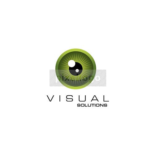 Eye logo for Optometrist - Green eye with black Pupil | Logodive