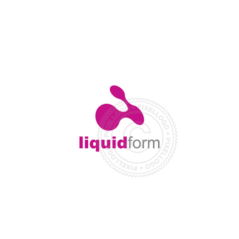 Abstract Liquid Form-Logo Template-Pixellogo
