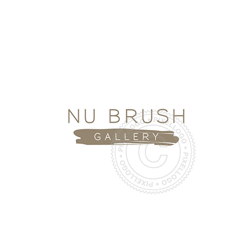 Brush Stroke Gallery-Logo Template-Pixellogo