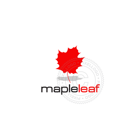 Maple Leaf logo design - Red Maple Leaf logo | Pixellogo