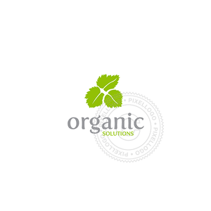 Green Leaves Organic Shop-Logo Template-Pixellogo