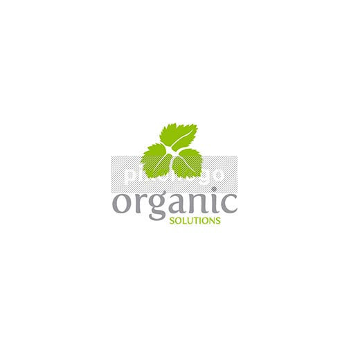 Green leaves Organic shop logo - 3 green leaves | Logodive
