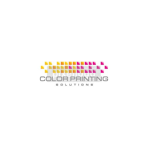 Pixel Print shop logo - pixellated colors mixing | Logodive